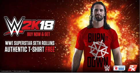 Seth Rollins Authentic T-Shirt Offer